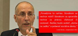 Ľuboš Sirota, viceprezident RÚZ o ochote Slovákov pracovať za mizerné mzdy