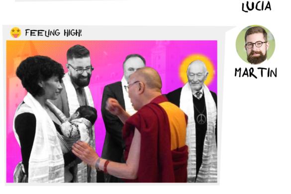 Dalajláma píše Lucii Ďuriš Nicholsonovej