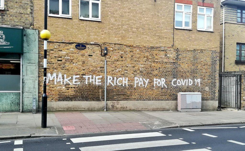 Nápis na stene londýnskej ulice