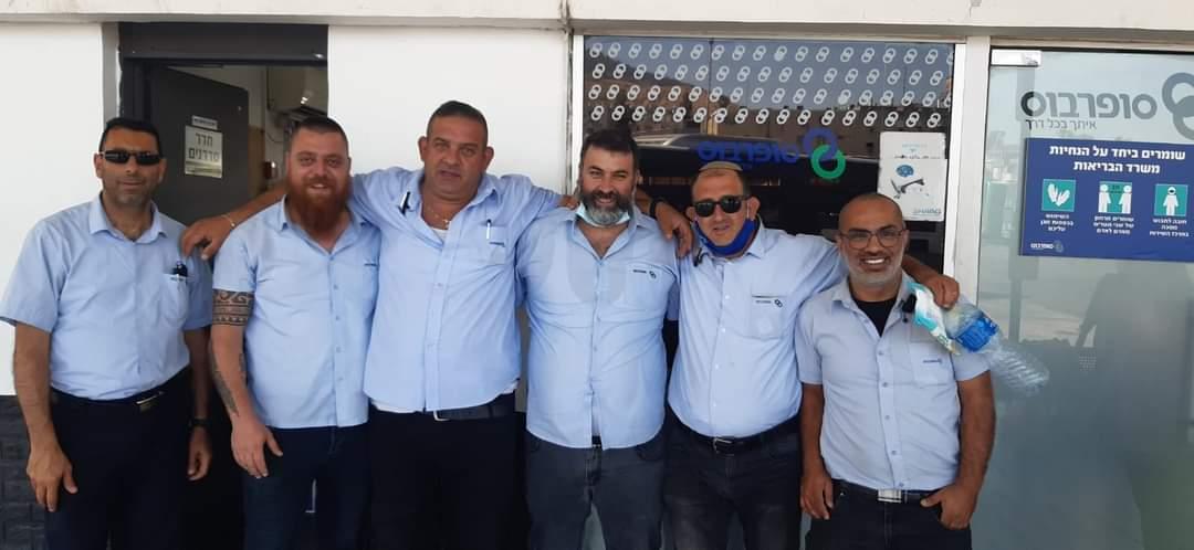 Vodiči a odborári Koach LaOvdim z mesta Tiberias